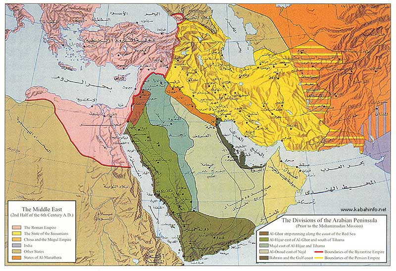 Kabah Info Preface Highlights on History – Arabian Peninsula World Map